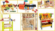 Toolboxes Tools Workbench Boys Gifts Wooden Quality Toys Build Drill Saw Pretend