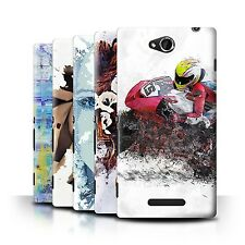 STUFF4 Back Case/Cover/Skin for Sony Xperia C/C2305/Fragments