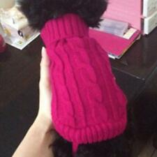 Rose red Pet Dog Turtleneck Knitwear Sweater Clothes Apparel Coat Size 4#-12#