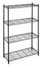 Black / Chrome Storage Rack 4-Tier Organizer Kitchen Shelving Steel Wire Shelves