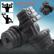 Weights Dumbells Set Vinyl Cement Free Weight Dumbbells Plates Training Exercise