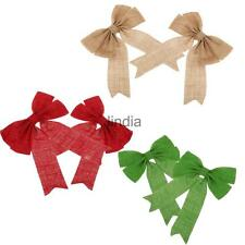 Pair of Christmas Tree Bow Decoration Baubles for Christmas Decoration Supplies