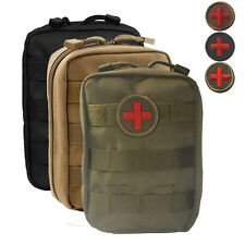 Military Outdoor First Aid Pouch Tactical EMT Emergency Rescue Bag with Patch