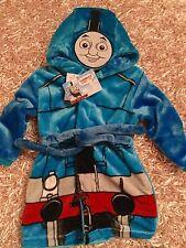 Brand New Boys Thomas the tank dressing gown aged 18-24 months  2/3 & 3/4 years