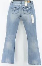 Levis 524 Too Superlow Skinny Flare Jeans Juniors Stretch Blue Denim