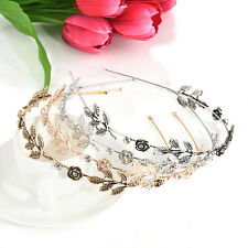 Charm Rhinestone Flower Women Girls Head Piece Hair Band Jewelry Headband Gifts