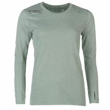 adidas Ladies LM SN T-Shirt Sports Thumb Loops Crew Long Sleeve Top Clothing
