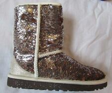 UGG womens champagne short sparkles sequin short boots NEW metallic 1018571