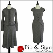 PHASE EIGHT UK12 US8 3 PIECE WOOL TWEED SKIRT & DRESS SUIT WOMENS LADIES SIZE