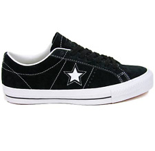 CONVERSE ONE STAR SKATE OX BLACK WHITE MENS SUEDE CASUAL SKATEBOARD SHOES