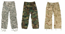 WOMEN'S Camo Vintage Paratrooper Fatigues BDU Military Cargo Pants Ladies