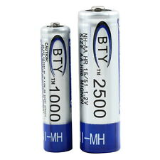 AA 2500mAh 1.2V NI-MH NIMH Rechargeable Battery for TV Remote Toy RC Car JK MR