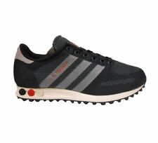 adidas LA TRAINER MENS SIZE 6.5 9 10.5 BLACK LT ONIX RED TRAINER SHOE NEW
