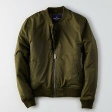 NWT AE American Eagle Outfitters Women's AEO Classic Bomber Jacket Coat Olive