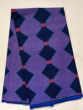 African Fabric, Ankara - Blue & Pink 'Manya Krobo' Kente, YARD or WHOLESALE