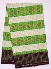African Fabric, Ankara- Green 'Generational Prosperity' Kente, YARD or WHOLESALE