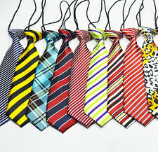 School Boy Kids Solid Color Wedding Elastic Tie Necktie Adorable Grooming Tie
