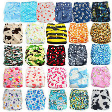 3 Styles One Size Cute Adjustable Baby Pocket Cloth Diaper Nappy with 2 Inserts