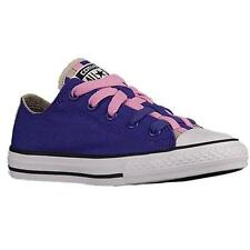 Girls Youth CONVERSE 654230F Purple ALL STAR LOOPHOLES OX Athletic Shoes New