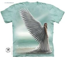 White Angel Lady Death T-Shirt/Anne Stokes Art,Ocean,Surfers,Vamp,Sexy Angel Tee