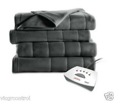 Sunbeam Electric Heated Fleece Blanket,Washable,Free Shipping
