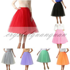 Women's Tutu Petticoat Swing Vintage Net Crinoline Wedding Dress Underskirt Slip