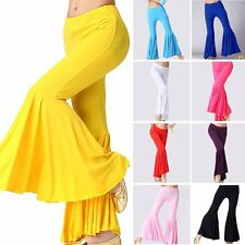 Belly Dance Pants Latin Cotton Tribal Dancing Harem Bell Exotic Trousers Costume