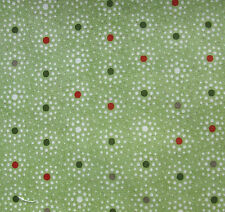 Green with star burst festive dots patchwork quilting Moda Fabrics pattern 30297