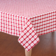 Country cupid HEARTS RED white TABLECLOTH  60 x 84 Oblong / rectangle