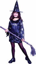 Little Witchy Child Girls Costume Mini Skirt And Hat Fancy Dress Funworld