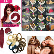 "20 pcs 16-24"" Remy AAAAAA Tape In 100% Human Hair Extensions Straight Hair"
