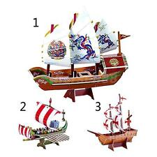 3D Cardboard Mini World Famous Ship Series Model Jigsaw Puzzle for Kids Toys
