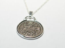 Lucky Sixpence Birthday coin pendant plus 18inch chain 1957 60th 1967 50th