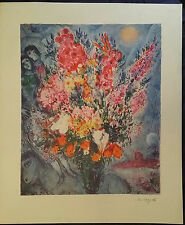 "Marc Chagall. Vase of Flowers- Le Boquet 1958. Lithograph. 24.5"" x 29.5"""
