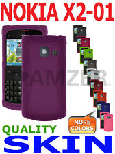 AMZER Silicone Skin Jelly Cover + extra Case / Screen Protector For Nokia X2-01
