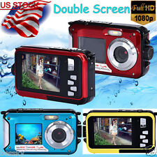 Full HD Double Screen Waterproof Camera 24MP 16x Digital Zoom Video Dive Camera