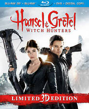 Hansel & Gretel: Witch Hunters (Blu-ray/DVD, 2013, 3-D)  w/Slipcover  Horror NEW