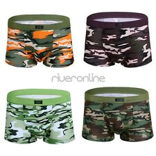 Sexy Mens Camouflage Pattern Boxer Briefs Shorts Underwear Underpants Plus Size