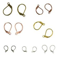 Lot of 50pcs French Leverback Earrings Hooks Open Loop Jewelry Findings DIY
