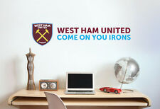 Official West Ham United Club Name & Crest Wall Sticker WHU Decal Football Vinyl