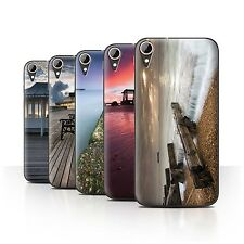 STUFF4 Phone Case/Back Cover for HTC Desire 830 /English Seaside