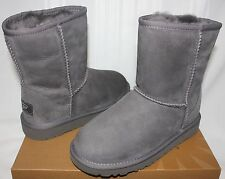 Ugg Youth Kids Classic Short Grey Suede boots 5251 Y NEW