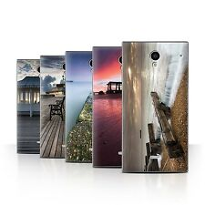 STUFF4 Phone Case/Back Cover for Sharp Aquos Crystal/306SH /English Seaside