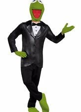 Kermit The Frog Costume Deluxe Adult The Muppets Mens Funny Comical - Fast -