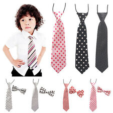 School Boy Kids Children Baby Wedding Party Multi Styles Elastic Bow Tie Necktie