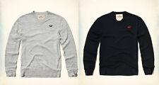 New NWT Hollister by Abercrombie & Fitch Men's V-Neck Sweaters Size M Gray&Navy