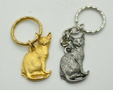 RAWCLIFFE Fine Pewter 1984 Cat I LOVE MY ABYSSINIAN Key Chain Love Kitty