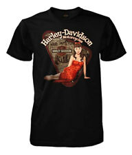 Harley-Davidson Men's Classic Beauty Vintage Pinup Short Sleeve T-Shirt, Black