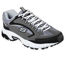 51286 EW Wide Fit Charcoal Skechers Shoes Men Memory Foam Athletic Train Comfort