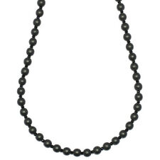 Onyx and Facetted Crystal Necklace 6mm beads x 30 inches
